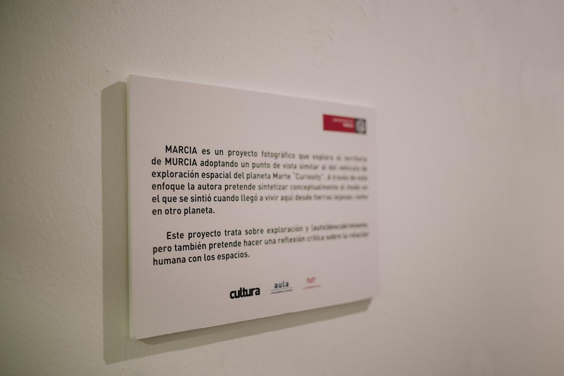 Vista exposición Marcia, Espacio expositivo Paraninfo, Murcia, España, Febrero 2020