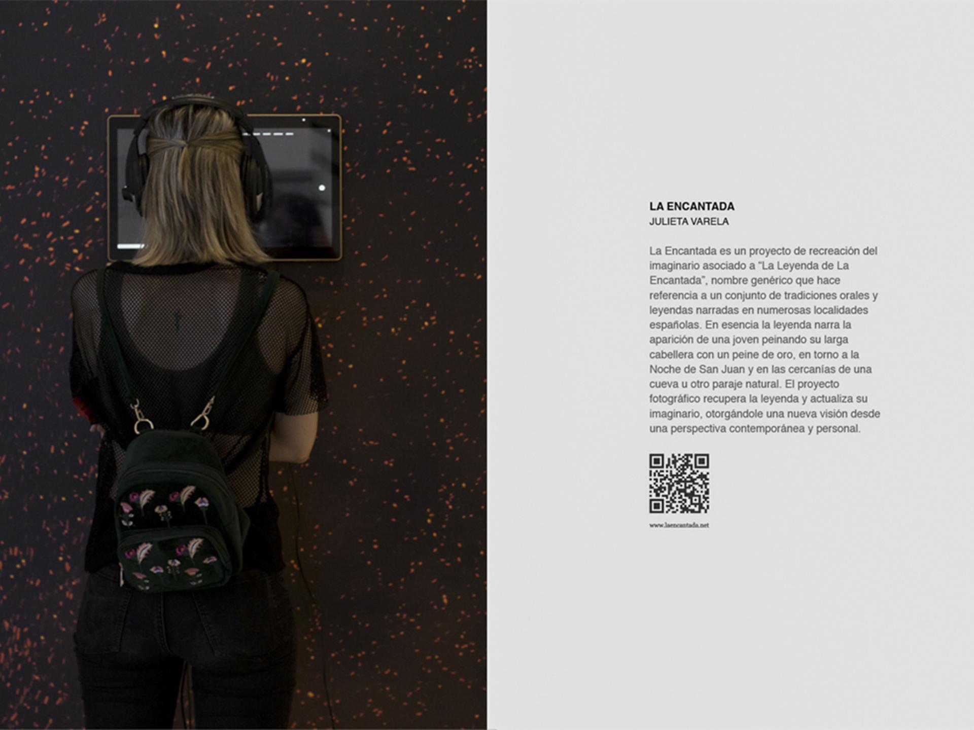 Vista instalación multimedia La Encantada, Sala expositiva The Showroom, Murcia, España, Junio 2018